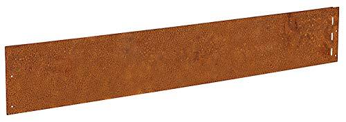 IRKA Rasenkante Cortenstahl Garten 18 cm x 100 cm x 1mm | Set 10 Stück | Cortenstahl stabile Mähkante | Flexible Beeteinfassung Rost Metall | Rasenkanten aus Cortenstahl