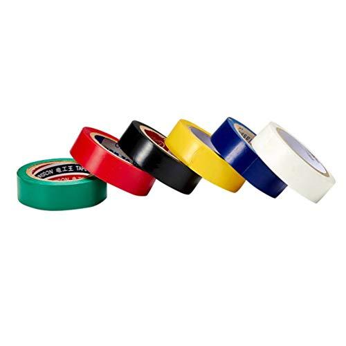 LIOOBO 6 PCS/Set 10 Meters Flame Retardant Colored Vinyl Electrical Insulation Tape Elettrica per uso domestico DIY