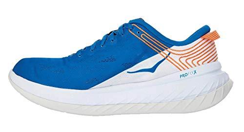 Hoka One Carbon X - Zapatillas de color blanco y azul, Azul (azul), 42 2/3 EU