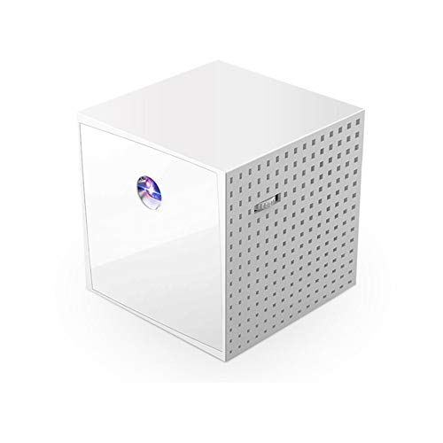 LIPETLI Mini Proyector PortáTil HD dlp Proyector de Bolsillo BateríA Incorporada Recargable Entrada Vida de hasta 5000mah Horas
