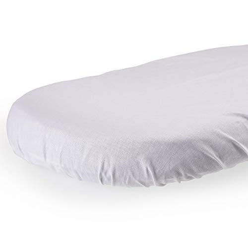 Little Angel Baby Spannbettlaken Spannbetttuch Für Wiege und Stubenwagen Stretch Jersey Baumwolle Weiß