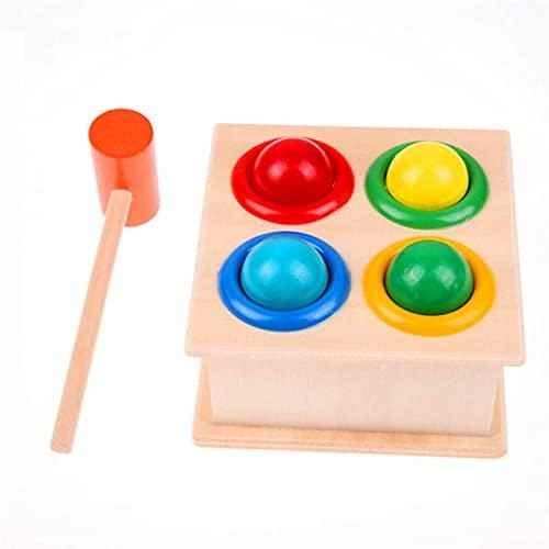 Ashley GAO Madera martillado bola martillo caja niños diversión jugando hámster juego juguete aprendizaje temprano juguetes educativos