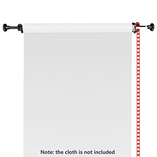 Neewer® Einzelne Fotografie Rollen Wandmontage Manuelle Hintergrund Stützsystem, einschließlich Zwei Einzelhaken, 2X Erweiterungs Stangen, 1x Kette, 4X Klemmschrauben