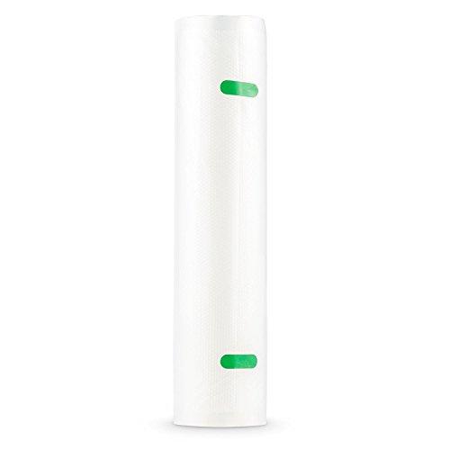 Klarstein Bagpack XL Vakuumbeutel Wabenstruktur Folienschlauch (2x Rollen 600x28 cm, individuell zuschneidbar, Geeignet für die Klarstein Foodlocker Vakuumiergeräte)