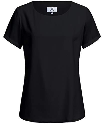 GREIFF Chiffon-Bluse 1/4 Corporate WEAR 6577 Shirts Regular Fit - Schwarz - Gr 38