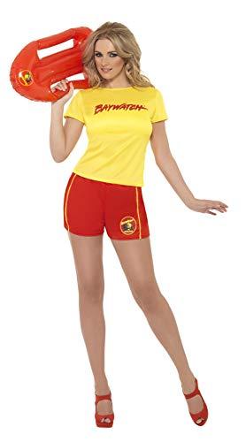 Smiffys, Damen Sexy Baywatch Strand-Kostüm, T-Shirt und Shorts, Größe: S, 32831