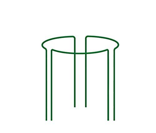 KADAX Pflanzenhalter, 3 Stück, Pflanzenstütze aus Stahl, halbrunde Rankhilfe für Pflanzen, Garten, wetterfester Blumenhalter, Staudenhalter, Strauchstütze, Blumenstütze, freistehend (Höhe: 45 cm)