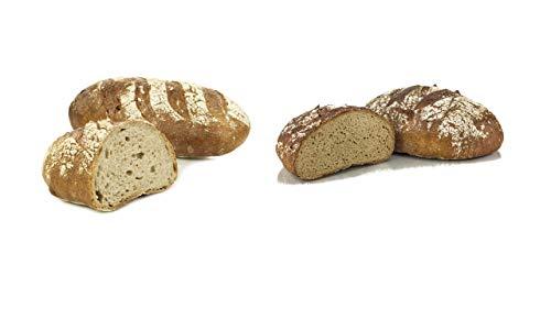 Vestakorn Handwerksbrot-Paar, Schwarzwälder Brot & Frankenkruste - frisches Brot - Sauerteigbrot vom Handwerksbäcker zum selbst aufbacken in 10 Minuten