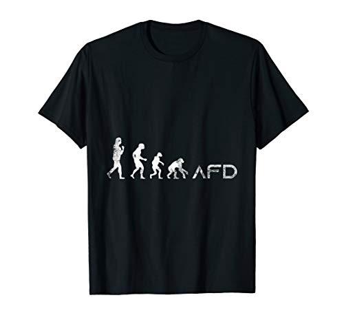 AFD Evolution Gegen Rassismus Faschismus Geschenk T-Shirt