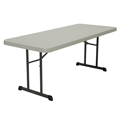 Lifetime Products 80249 Professional Folding Table, 6', Almond