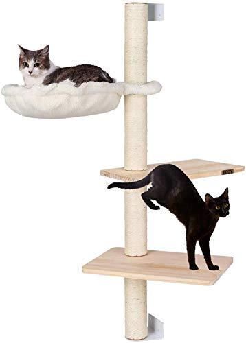 pedy Kratzbaum Katzen, Wandkratzbaum für Kätzchen, Kratzbrett Katzenbaum, Katzenkratzbaum, Kletterbaum, Katzenkratzbäume, Kratzmöbel Spielbaum Schlafplatz zur Wandmontage