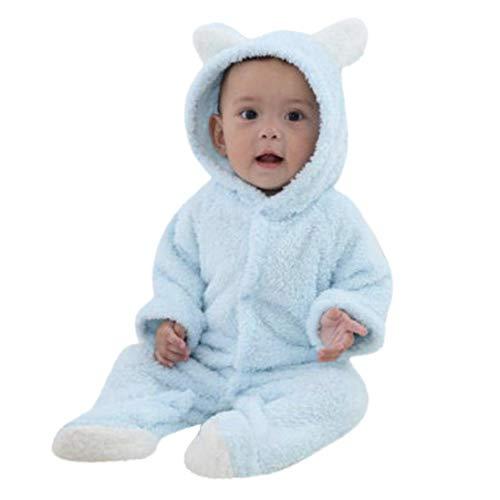 Covermason Grenouillères - Combinaisons et Barboteuses - Bébé Fille Garçon Combinaison De Neige Manteau à Capuche Hiver Combinaisons Pyjama Ensemble de Pyjama 3-12 Mois (BleuCiel, 6Mois)
