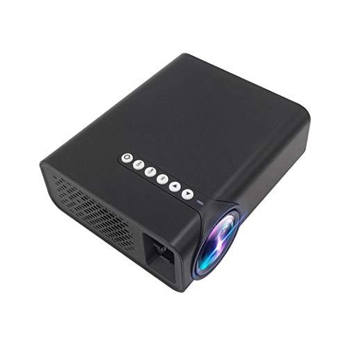 Mini proiettore 1800 proiettore ad Alta Definizione LCD Lumen, Altoparlante Incorporato, in Grado di Leggere U Disco, Mobile Hard Disk, Scheda SD, AV Dvd Connessione, Set-Top Box (Color : Black)