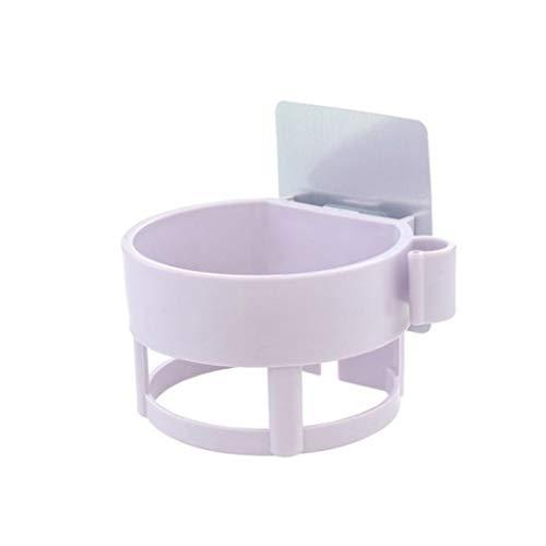 SCDZS Multifuncional Secador de Pelo Rack Baño Secador de Cabello Secador de Pelo Rack Punzonador sin Inodoro Rack Water Wall Galling Rack (Color : Purple)