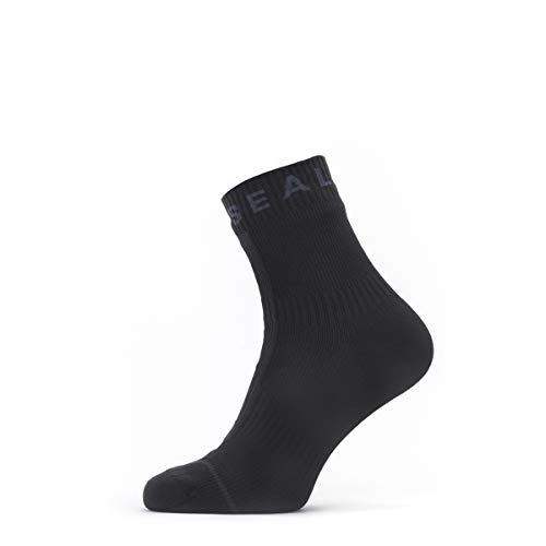 SealSkinz Herren Waterproof All Weather Ankle Length Socke mit Hydrostop , schwarz/grau, L
