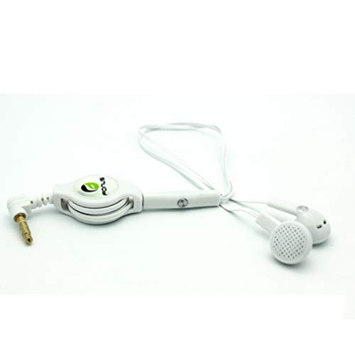Headphones Retractable Earphones Hands-Free Headset Handsfree Earbuds...
