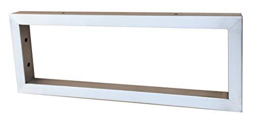 Sunload Consola para lavabo (acero inoxidable cepillado, 400 x 150 mm)