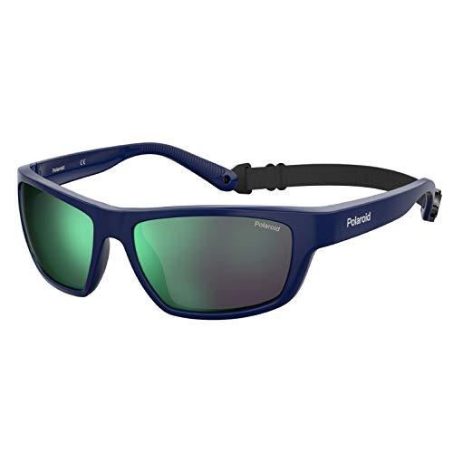 Polaroid PLD 7037/s Sunglasses, PJP/5Z Blue, 60 Unisex-Adult