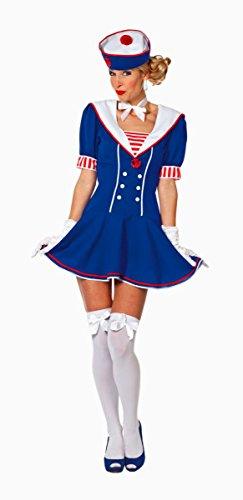 Costume da donna marinaio, taglia 34–46