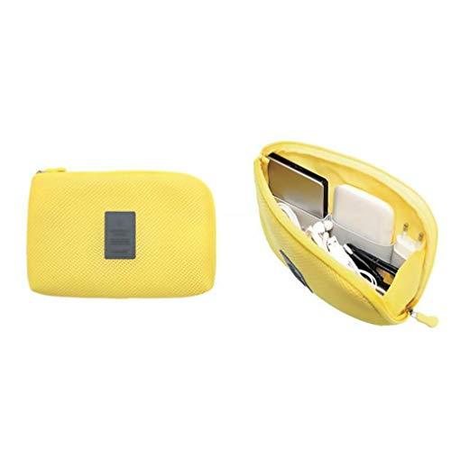 Elettronica di viaggio Gadget Organizzatore Handy grande capacità Tech Bag Accessori Storage Borsa per il trasporto giallo