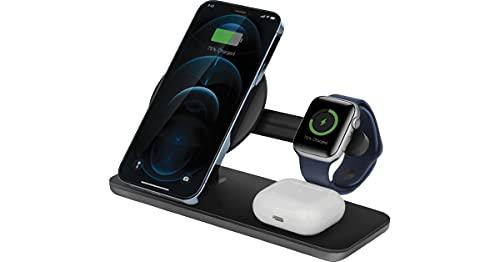 Energea MagDisc Trio - Cargador inalámbrico 3 en 1 para iPhone 12, AirPods, Apple Watch