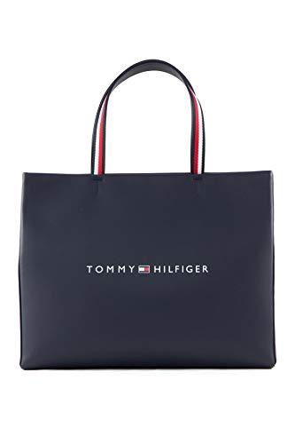 Tommy Hilfiger Damen Handtasche Tasche Shopper Tommy Shopper Tote Blau