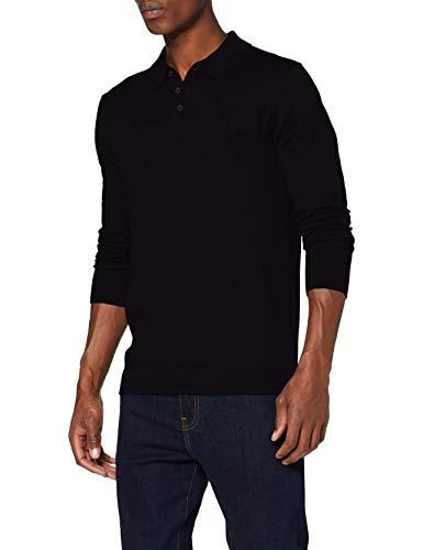 Wrangler Knit Maglione Polo, Black, S Uomo