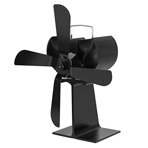 Koehope Rookventilator met 5 vleugels, stroomloze ventilator, voor houtkachels, oven, voor optimale verdeling van de lucht