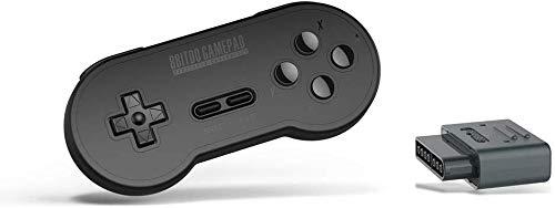 ZGYQGOO Game Cubes Jeu sans Fil, Manette Jeu sans Fil pour contrôleur, Manette Jeu à Vibrations, contrôleur Jeu Bluetooth sans Fil, Chargeur Jeu pour Manette USB SFC, Noir