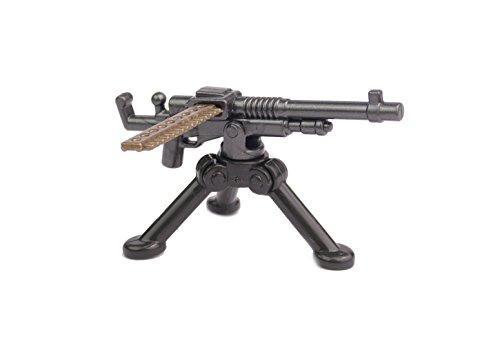 BrickArms WW1 WWI M1909 Hotchkiss Benet-Mercie Ametralladora Set de Armas, Custom Armas para Figuras de Lego