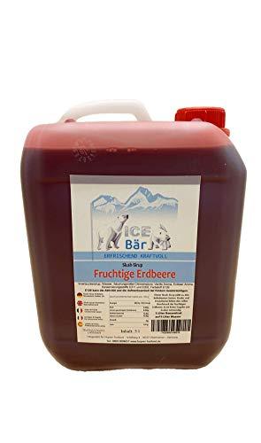 ICE BÄR Sirup Slush Konzentrat Slush Ice / Slush Eis fruchtige Erdbeere 5 Liter Ergibt 30 Liter Slush