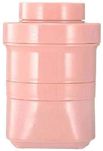 ZYL-YL Juicer Electric Silicone Folding Juice Cup Household Fruit Small Charging Mini Frying Juice Machine Easy to Remove and Wash,Yellow (Color : Pink)