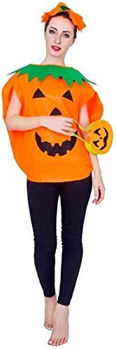 AOFOX Disfraz de Calabaza de Halloween para niños, niñas, Hombres, Mujeres, Ropa de Fiesta de Cosplay (Amarillo, Talla única para Adultos)