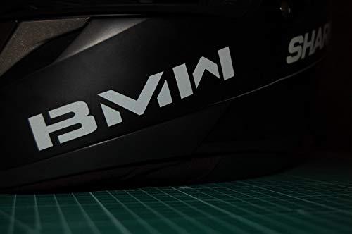 SUPERSTICKI 2X kompatibel für BMW Helmaufkleber Helm Motorrad Aufkleber Bike Auto Racing Tuning aus Hochleistungsfolie Aufkleber AUT