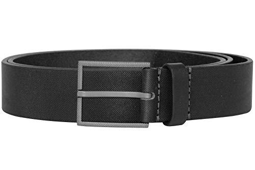 BOSS 50413090-001 Herren-Ledergürtel Trilos Schwarz 105 cm