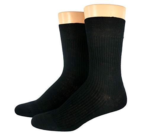 Socken für Damen und Herren, 1 oder 3 Paar Schafwollsocken 100prozent Wolle aus reiner Schurwolle, warm, atmungsaktiv, grau, schwarz, natur, Farben alle:schwarz, Größe:39/40
