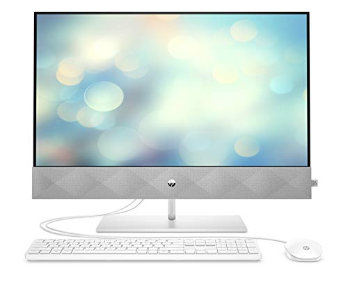 HP Pavilion 27-d0007ng (27 Zoll /QHD) All-in-One PC (Core i5-10400T, 16GB DDR4, 256GB SSD + 1TB HDD, nVidia Geforce MX350 4GB, Windows 10 Home) Weiss