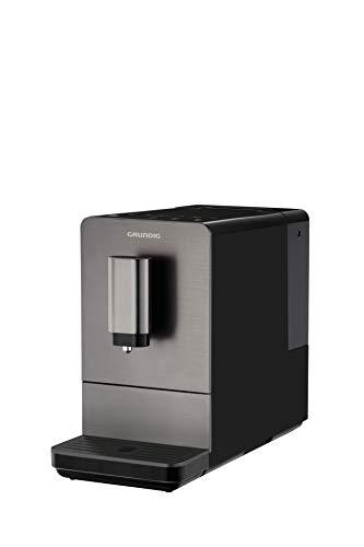 Grundig KVA 4830 - Cafetera automática, frontal de acero inoxidable, color negro