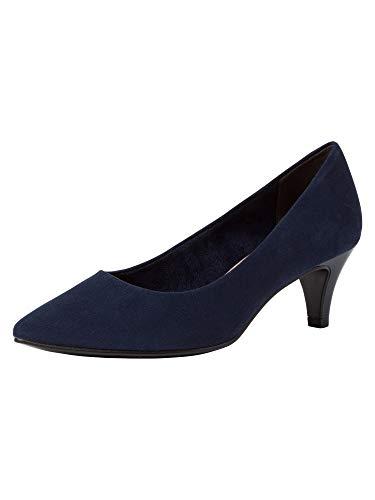 Tamaris Damen Pumps 22415-24, Frauen KlassischePumps, Ladies feminin elegant Womens Women Woman Abend Feier Court-Shoes Damen,Navy,38 EU / 5 UK
