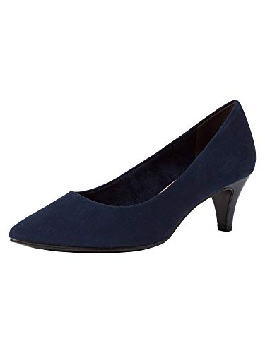 Tamaris Damen Pumps 22415-24, Frauen KlassischePumps, Ladies feminin elegant Women's Women Woman Abend Feier Court-Shoes Damen,Navy,38 EU / 5 UK
