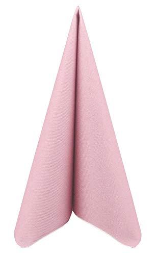 APARTina 50 Servietten rosa Altrosa 40x40 cm stoffähnlich Airlaid - Uni Pastell Altrosa