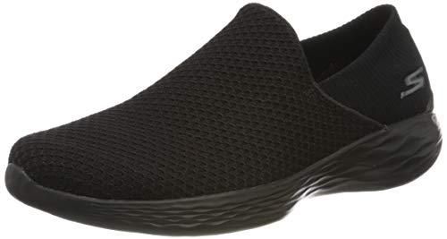 Skechers You, Zapatillas sin cordones para Mujer, Negro (Bbk), 37.5 EU