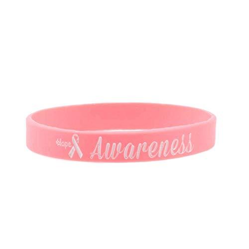 QQW Kämpfer Brustkrebs Awareness Ribbon Survival Silikon Armband-Bl4801Pk_China