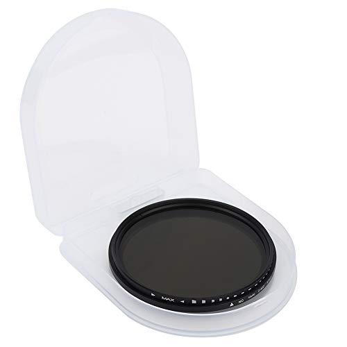 EVTSCAN Filtro de Lente ND de 67 mm - Filtro de Lente de cámara ND2‑400 - Aleación de Aluminio + Vidrio óptico - para Lentes de cámara Fuji