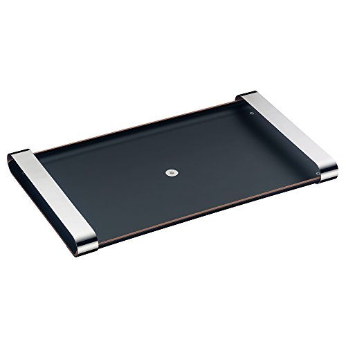 WMF Tablett mit Tragegriffen Club Holz lackiert, Cromargan Edelstahl, 54 x 32 cm, schwarz