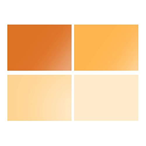 Meking ジェルカラーフィルター 40cmx50cm 4枚セット オレンジ 半透明カラーフィルター カラーオーバーレイ...