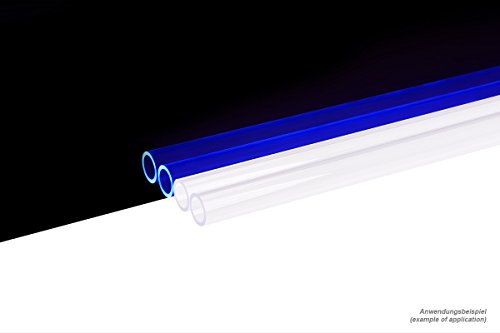 Alphacool 18485 HardTube 13/10mm Acryl (PMMA) Klar UV-Blau 60cm - 4er Set Wasserkühlung HardTubes