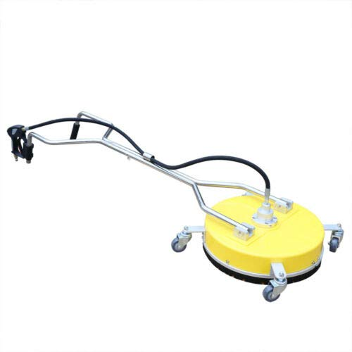 "DYRABREST 18"" Concrete Cleaner 4000PSI Flat Surface Concrete Cleane Pressure Washer Surface Cleaner Power Washer Accessory Flat Floor Stainless Steel with Wheels"
