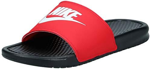 Nike Men's Benassi JDI Blk/Wht/Red Sliders-7 UK (41 EU) (8 US) (343880-026)