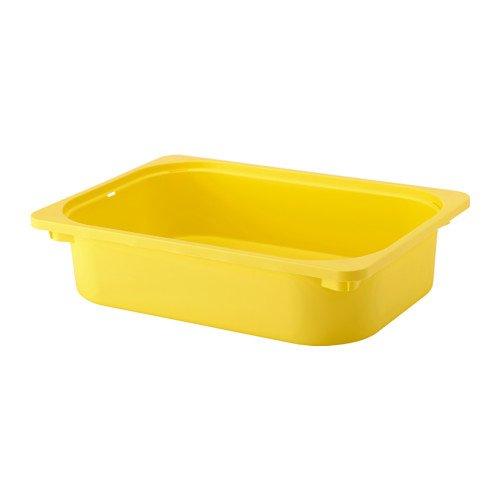 Ikea TROFAST - Caja de almacenamiento (2 unidades), color amarillo